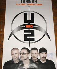 THE EDGE HAND SIGNED U2 LONDON WEMBLEY 360 CONCERT POSTER UACC REGISTERED DEALER