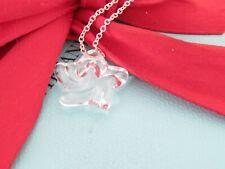 "New Tiffany & Co Silver Peretti Rock Crystal Star Necklace Pendant 16"""