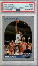 1990/91 Hoops Sam Vincent w/ Michael Jordan #223 PSA 8.5