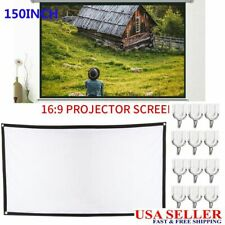 150 Inch 16:9 HD Projector Projection Screen Home Theater Movie Cinema Outdoor