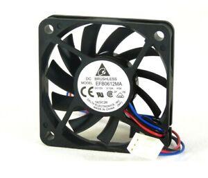 Super Quiet Slim Cooling Fan 60x60x10mm Delta Electronics EFB0612MA RPM Sensor