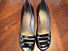 Marc By Marc Jacobs Black Peep Toe Leather Heels Pumps Size 8.5 MBMJ Classic