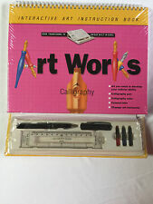 Interactive Art Instruction Art Works Calligraphy Pen Ruler Color Inks Book NIP