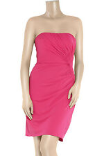 £350 ISSA NEW strapless Pink Dress Uk 12 14 Party Cocktail Evening Bandeau Prom