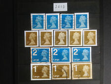 Great Britain 2010 15 Different Security Machin Definitives Collection