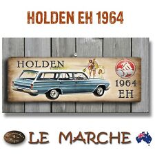 "🚘 HOLDEN GM ""1964 EH Wagon"" Wooden Rustic Plaque / Sign (FREE POST) 🚘"