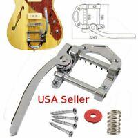 Guitar Vibrato Tailpiece Tremolo Flat Top Body Tremolo Unit Vibrato Bridge L4D8