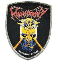MONSTROSITY (imperial doom) SHIELD SILVER BORDER WOVEN PATCH