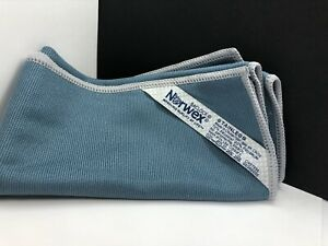 NORWEX STAINLESS STEEL CLOTH MICROFIBER Steel Blue with Light Grey Trim Baclock
