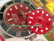 NOS Matte Red Submariner Scuba Replacement Dial For DG2813 Mechanical Movement