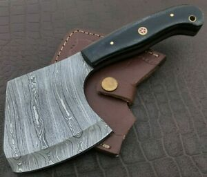 Handmade Axe-Damascus Steel Viking Axe-Camping-Outdoors-Leather Sheath-DH110