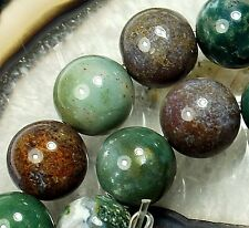 """12mm Red Green Agate Round Loose Beads 16"""""""