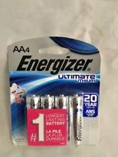 Energizer AA 4 Pack L91SBP-4 Ultimate Lithium Batteries, 2037 FRESH BATTERIES