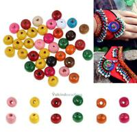 200 x 8mm Round Wood Spacer Bead Natural Colorful Wooden Beads Jewelry DIY Gifts