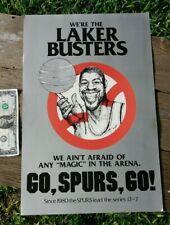 "Vintage San Antonio Spurs Ghostbusters Diet Coke Lakers Game Fan Poster 18""x12"""