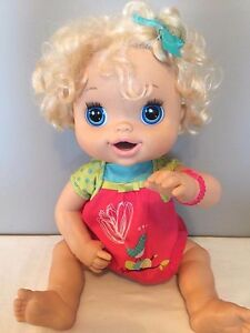 Interactive Doll Talks Eats Poops Pees- Baby Alive Hasbro 2010 Blonde Hair