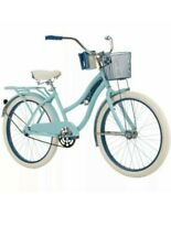 Huffy Girls 24 inch Nel Lusso Cruiser Bike,  Padded Seat, Blue NEW