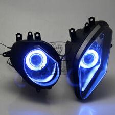 Fast Blue Angel Eyes HID Projector Custom Headlight For BMW S1000RR 2009-2014