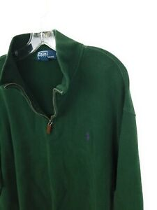 Polo Ralph Lauren Long Sleeve 1/4 Zip Pullover Sweater Men's XXL 2XL Green