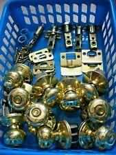 New ListingVintage, Box Of Brass Door Knobs & Other Door Items-. Six Pounds.