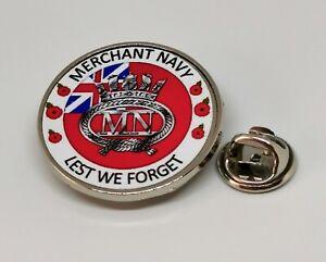 Merchant Navy Lest we Forget Military Lapel Pin Badge - Key Ring - Fridge Magnet