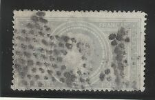 n°33 Napoléon 5Ffr Gris oblitéré étoile 2nd choix timbre classique - Certificat