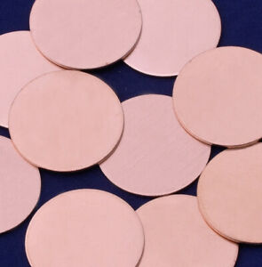 20 PCS Metal Stamping Blanks Round Copper Tags 18mm Diameter for DIY Jewellery