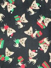 LuLaRoe OS ~ Chihuahua Chiwawa Dog & Christmas Presents ~ on BLACK MAJOR UNICORN