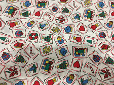 Vintage Novelty Christmas Fabric - Red Green White