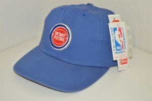 retro DETROIT PISTONS AMERICAN NEEDLE ADJUSTABLE ONE SIZE BLUE HAT CAP NEW NWT