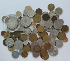 More details for job lot x94 mixed european coins inc 2 1/2 gulden, 1 lek, germany - money 435g