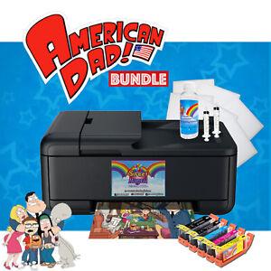Cake Topper Image Printer, Edible Ink Cartridges,American Dad bundle