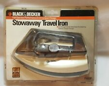 VTG Black & Decker Stowaway Travel Iron Compact Folding Design Steam F46BP NIP