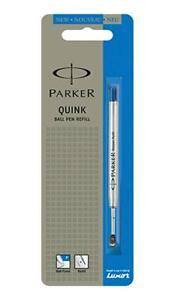 2 x Parker Quink Flow Ball-Point Pen Ink Refill Fine Tip Blue Size Ballpen , UK