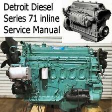 Detroit Diesel 71 Inline Service Manual Engine Motor Overhaul Diesel Motor CD !!