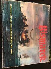 Vintage 1979 BISMARCK Board Game NOT COMPLETE Avalon Hill WW 2