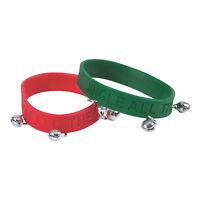 Rubber Bracelet W Jingle Bells - 12 Pieces