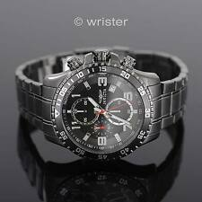 Invicta Specialty Chronograph Gunmetal Ion-Plated SS Grey Black NEW Mens Watch !