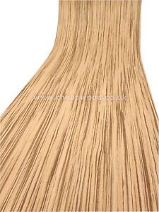 Zebrano Wood Veneer  /  Flexible Wood Veneer Sheet