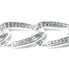 1 meter Silver Plated Curb Chain - 7x10mm - A5440
