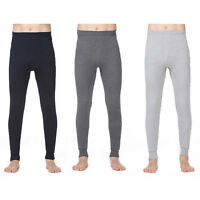 Mens Thermal Warm Long Johns Leggings Underwear Baselayer Bottoms Winter Pants