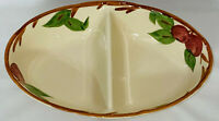 "Franciscan APPLE *11"" OVAL DIVIDED VEGETABLE BOWL* GREEN MARK*"