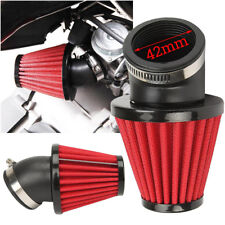 Red 42mm Intake Air Filter 45Degree Motorcycle Scooter ATV Dirt Bike Accessories