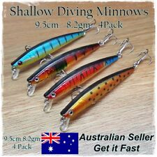 4 Trout & Redfin Fishing Lures, Bream, Salmon, Mullaway, Flathead, Whiting, Bass