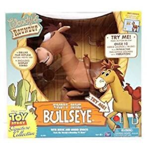 """Toy Story Collection Woody Woody's Roundup Horse Bullseye Sound 16"""" talking PVC"""