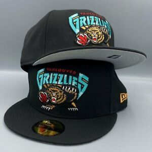 Vancouver Grizzlies NBA New Era 59FIFTY Black Fitted Hat