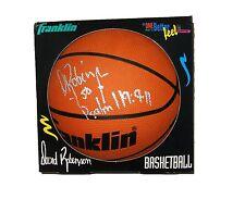 NBA DAVID ROBINSON HAND SIGNED AUTOGRAPHED FRANKLIN BASKETBALL SIGNED TWICE COA