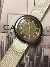 VINTAGE  SWISS MADE CARAVELLE WATCH WITH  DATE STAINLESS STEEL RARE