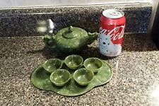 Vintage Small Green stone serving dishes.