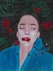 original drawing 24 x 32 cm 57YkV art by samovar Mixed Media female portrait